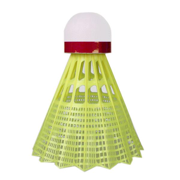Badmintonové míče Yonex Mavis 600 žlutý míček - červený pruh