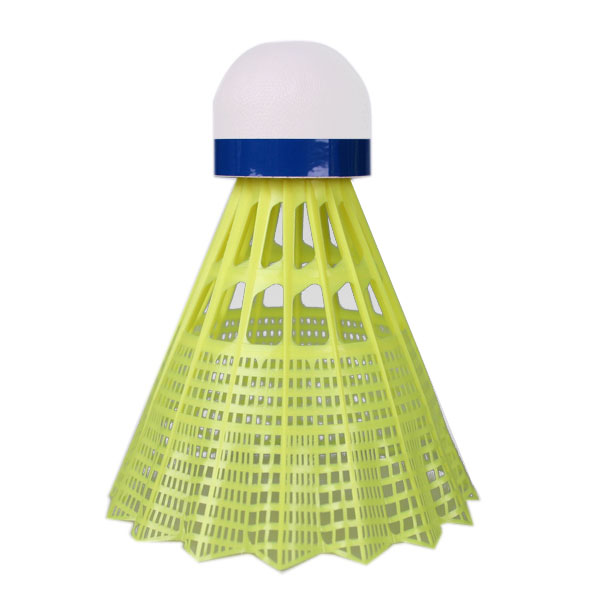 Badmintonové míče Yonex Mavis 600 žlutý míček - modrý pruh