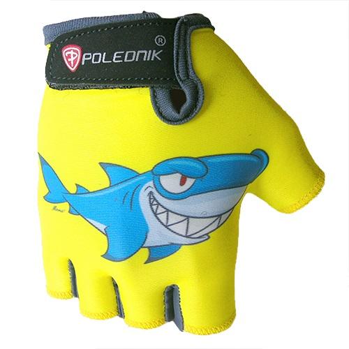 Dětské cyklo rukavice POLEDNIK Baby New žralok - 3