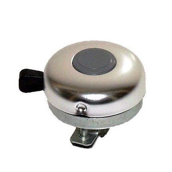 Zvonek na kolo Ocel/Al 54 mm - stříbrný