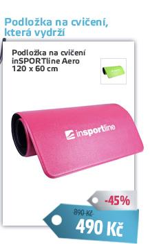 Podložka na cvičení inSPORTline Aero 120 x 60 cm - AKCE