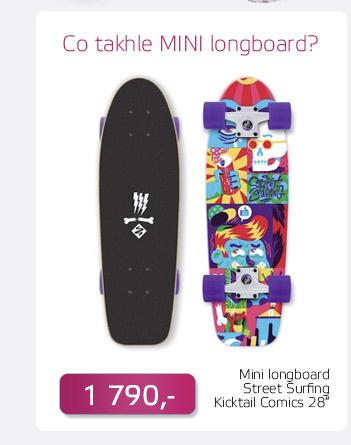 Mini longboard Street Surfing Kicktail Comics 28