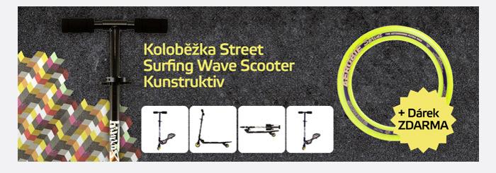 Koloběžka Street Surfing Wave Scooter Kunstruktiv