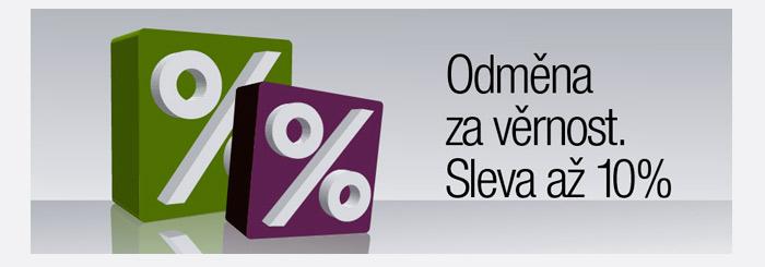 Věrnostní program pro naše stálé zákazníky. Slevy až -10%