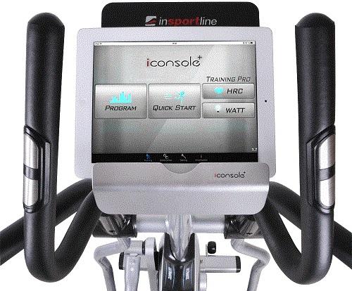 Crossový trenažér inSPORTline inCondi ET520i môžete prepojiť s aplikáciami
