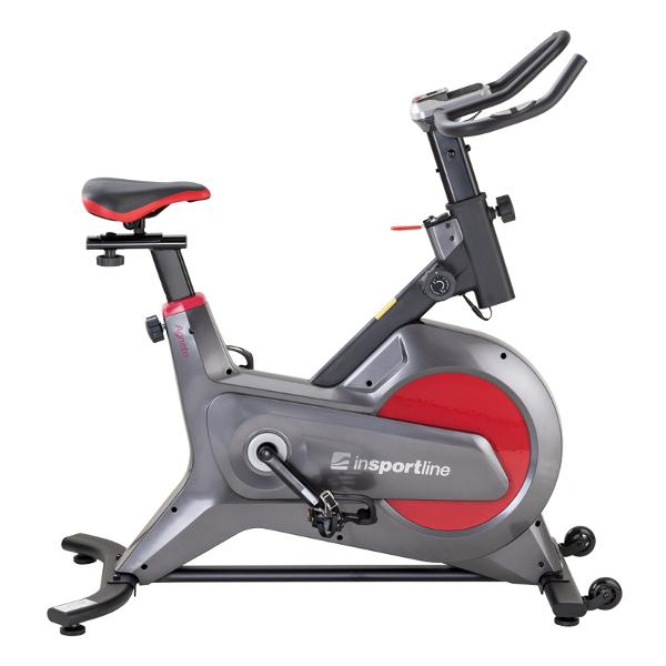 /></p> <p><strong>Caracteristici principale:</strong></p> <ul> <li>Bicicleta indoor cycling cu <strong>sistem de franare magnetic</strong></li> <li><strong>Pozitia seii si manerelor poate fi ajustata</strong> pentru a se potrivi utilizatorilor te toate staturile</li> <li>Rezistenta ajustabila manual</li> <li>Senzori de ritm cardiac incorporati in manere</li> <li>Afisaj usor de utilizat ce ofera date despre antrenament</li> <li>Role transport</li> <li>Tablet holder</li> <li><strong>Afisajul indica:</strong>timp, distanta, viteza, calorii, ritm cardiac</li> <li><strong>Alimentare display:</strong>2 baterii AAA (incluse)</li> </ul> <p></p> <hr /> <p><strong>Specificatii tehnice:</strong></p> <table width=